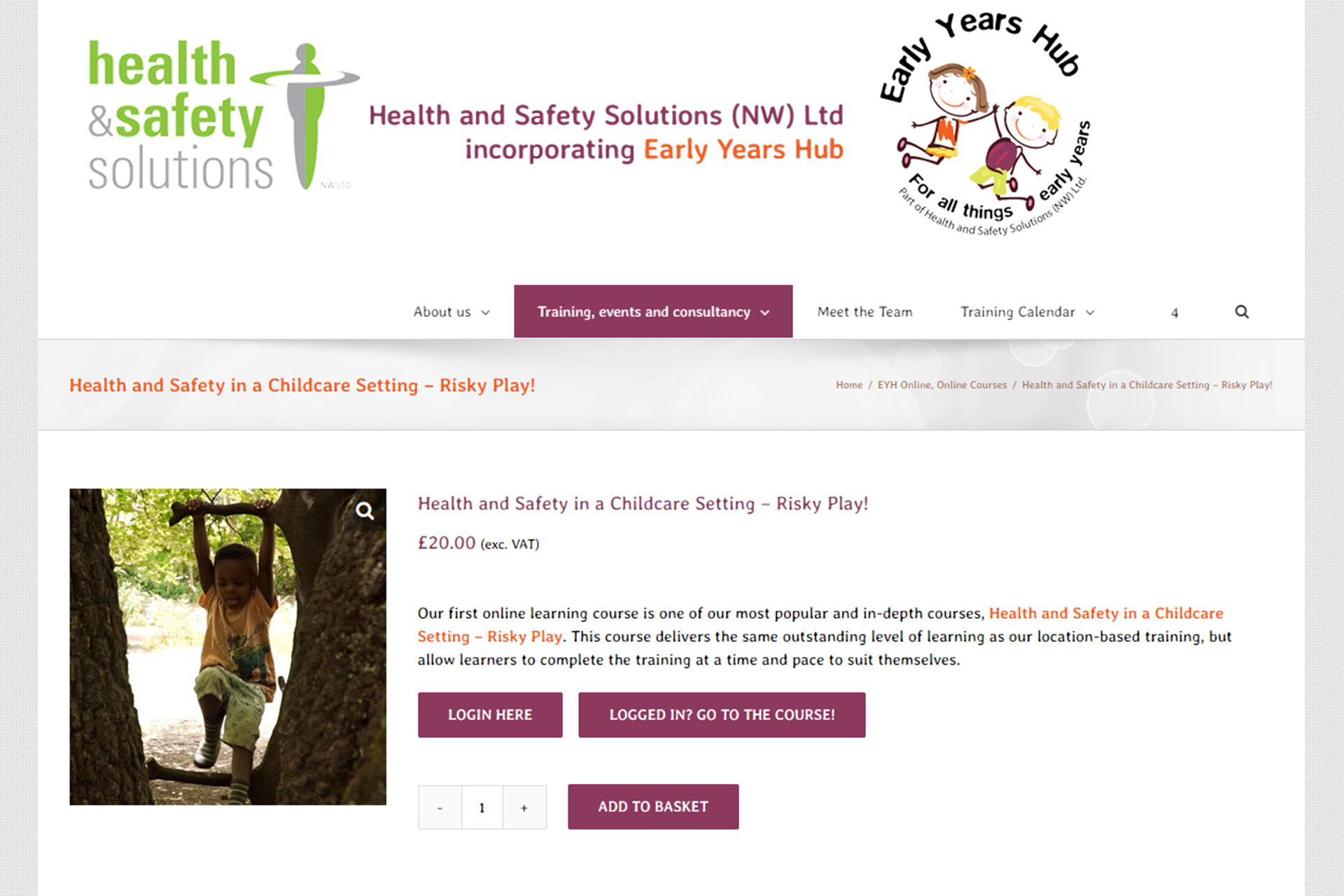 Early Years Hub Online Learning Course screenshot