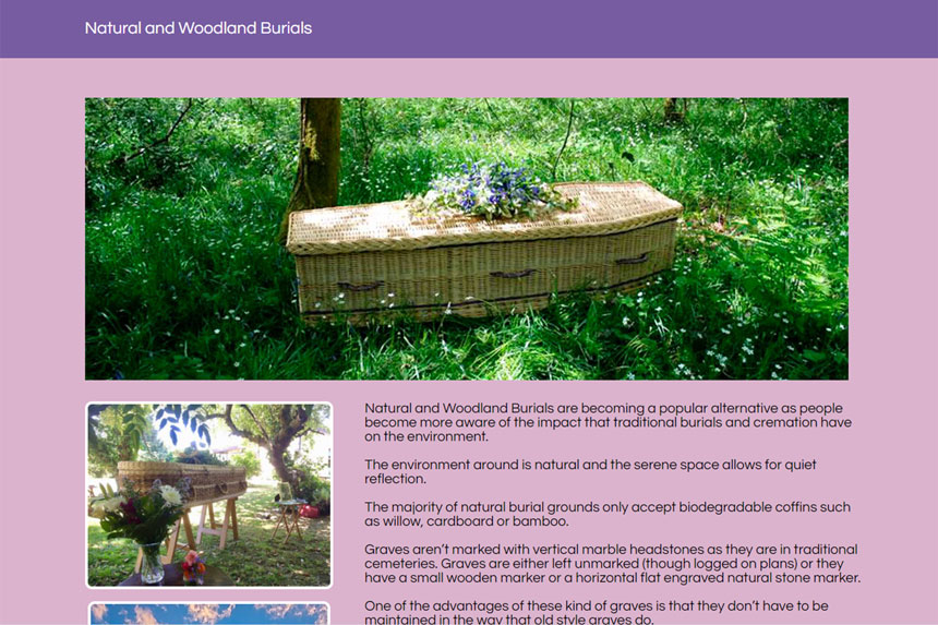 Image featuring Funerals with heart and soul natural burials page