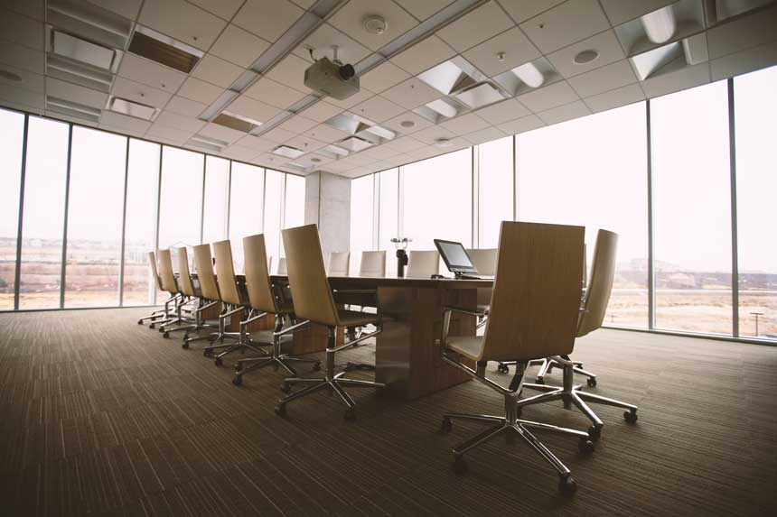 Empty office conference room - the way of the future?