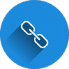 SEO hyperlink icon representing site navigation