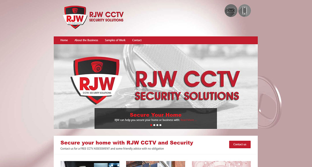 Image of home page for RJWCCTV