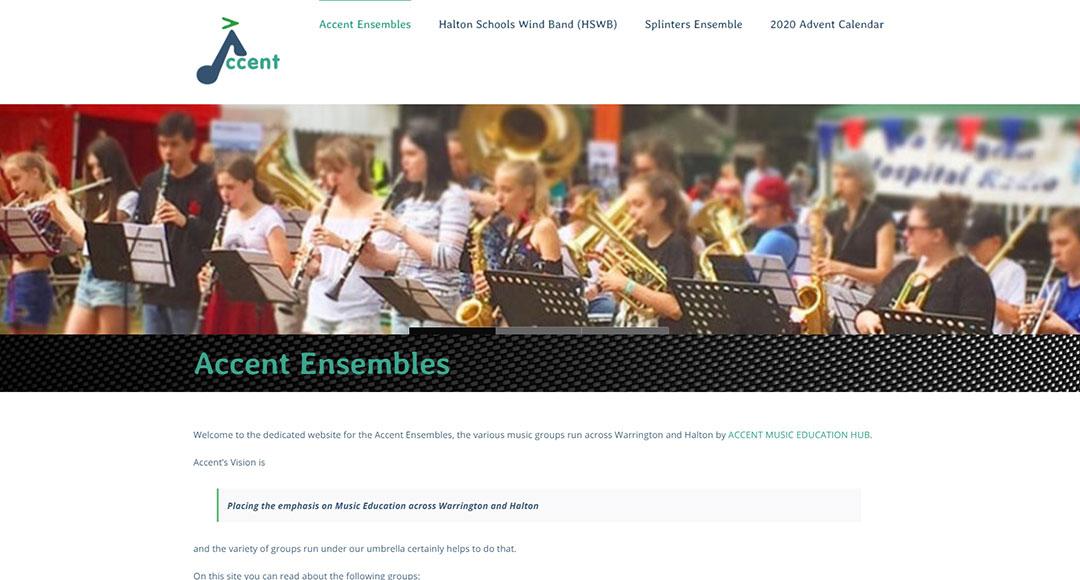 Accent Ensembles Homepage image